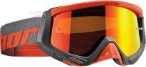 Szemüveg cross THOR SNIPER tükrös piros/szürke