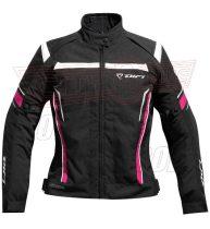 Kabát DIFI Helen fekete/pink/fehér női