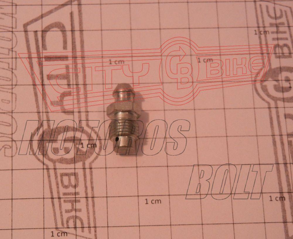 Légtelenítőcsavar M10x1,25 lapos végü/MALAGUTI F12