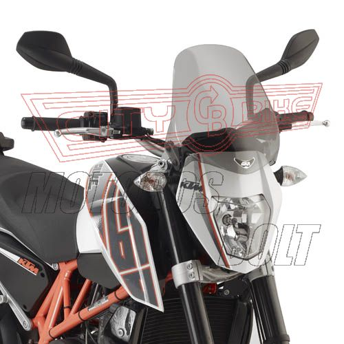 Plexi-szélvédő Suzuki GSR 600 (06-11) / Yamaha FZ6 S2 / FZ6 600 Fazer S2 (07-11) / Yamaha MT-03 600 (06-14) / KTM DUKE 690 (12-14) GIVI