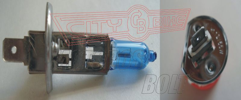 Izzó 12V 55W H1 xenon kék RMS