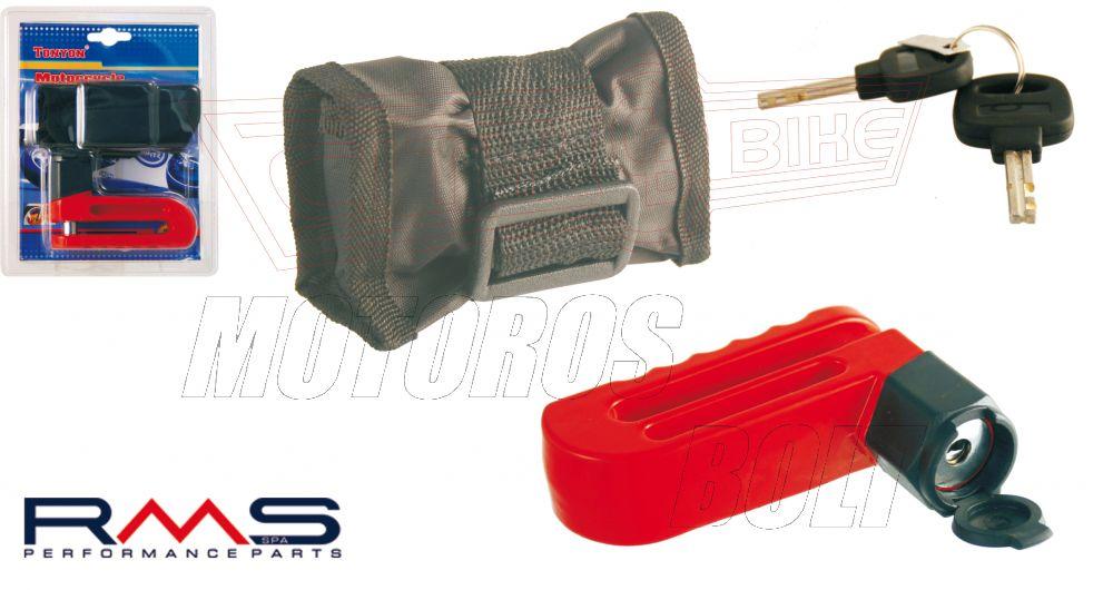 Tárcsafékzár 10 mm-es csap, táskával RMS