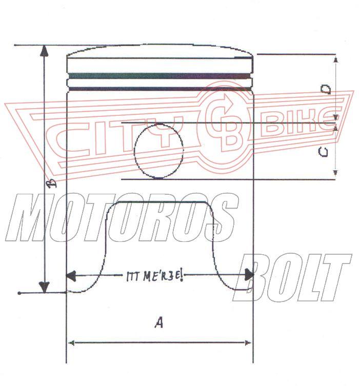 Dugattyú szett Suzuki DR 350 90-99 80,00-83,00