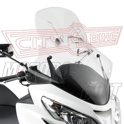 Plexi-szélvédő állítható Suzuki Burgman 400 K7-K8-K9-L0-L1-L2-L3 (06-13) GIVI