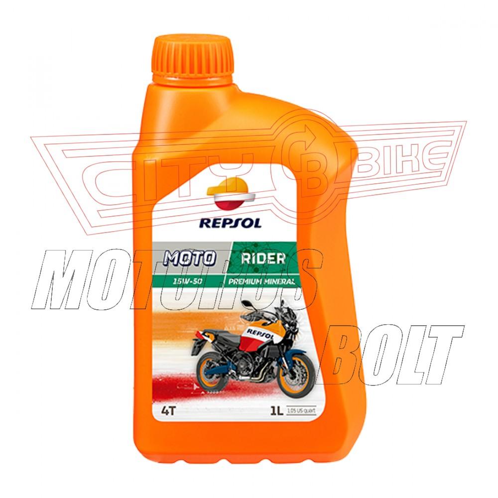 REPSOL Moto Rider 4T 15W-50  1L  ásványi  JT*