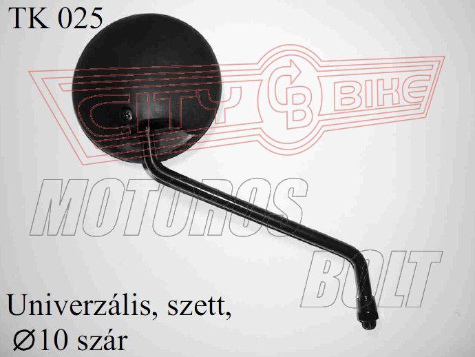 Tükör TK-25 10x1,25 kerek (pár)