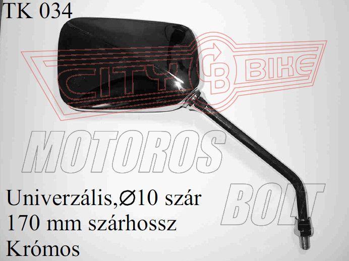 Tükör TK-34 10x1,25 téglalap szárhossz: 170MM KRÓM(db)