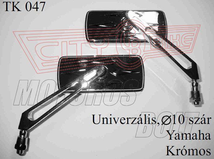 Tükör TK-47 10x1,25 téglalap Yamaha KRÓM (pár)