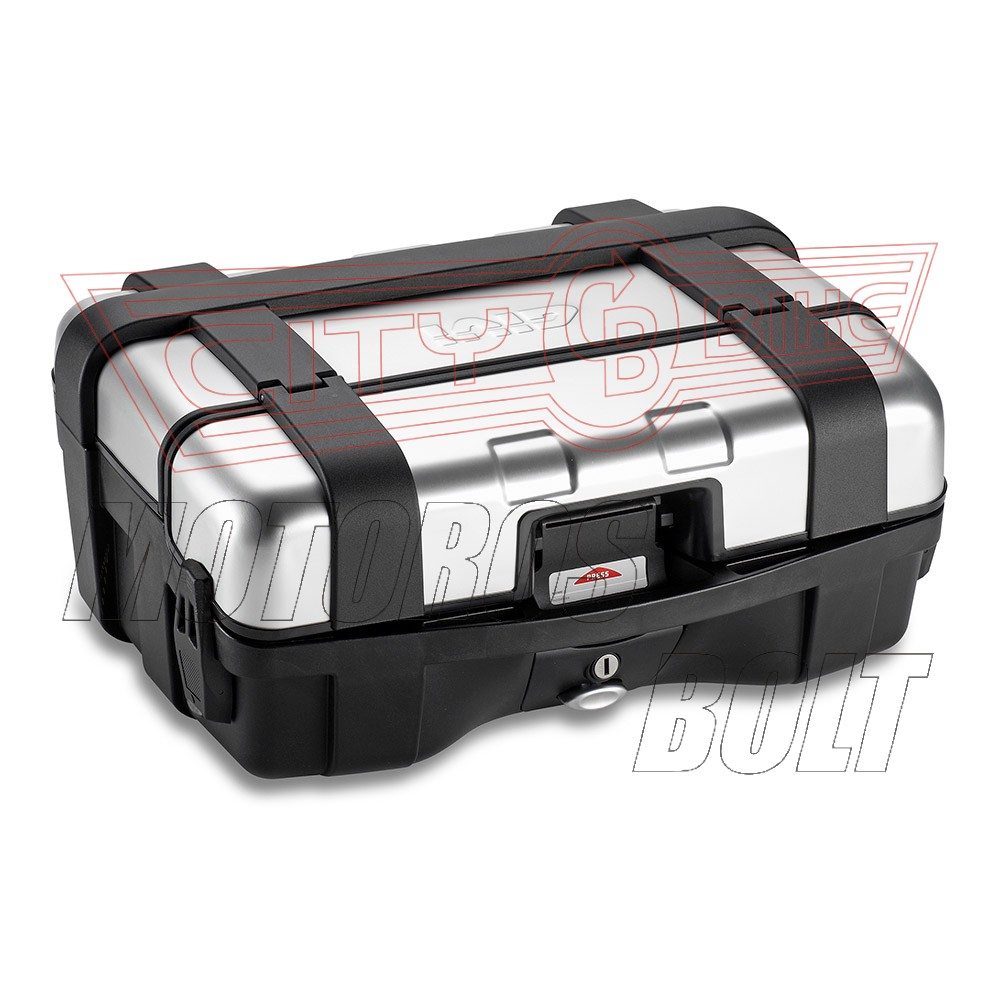 Csomagtartó doboz GIVI TRK33N alu/fekete MonoKEY