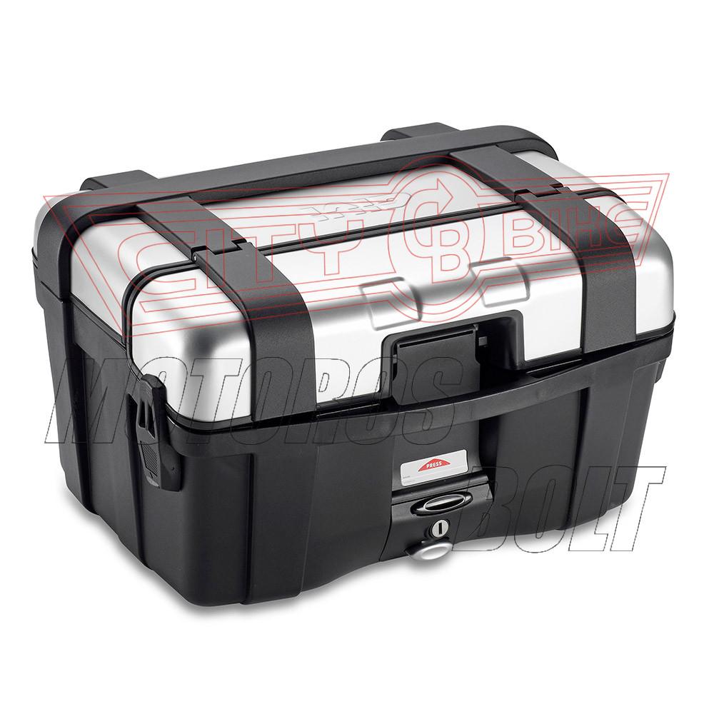 Csomagtartó doboz GIVI TRK46N alu/fekete MonoKEY