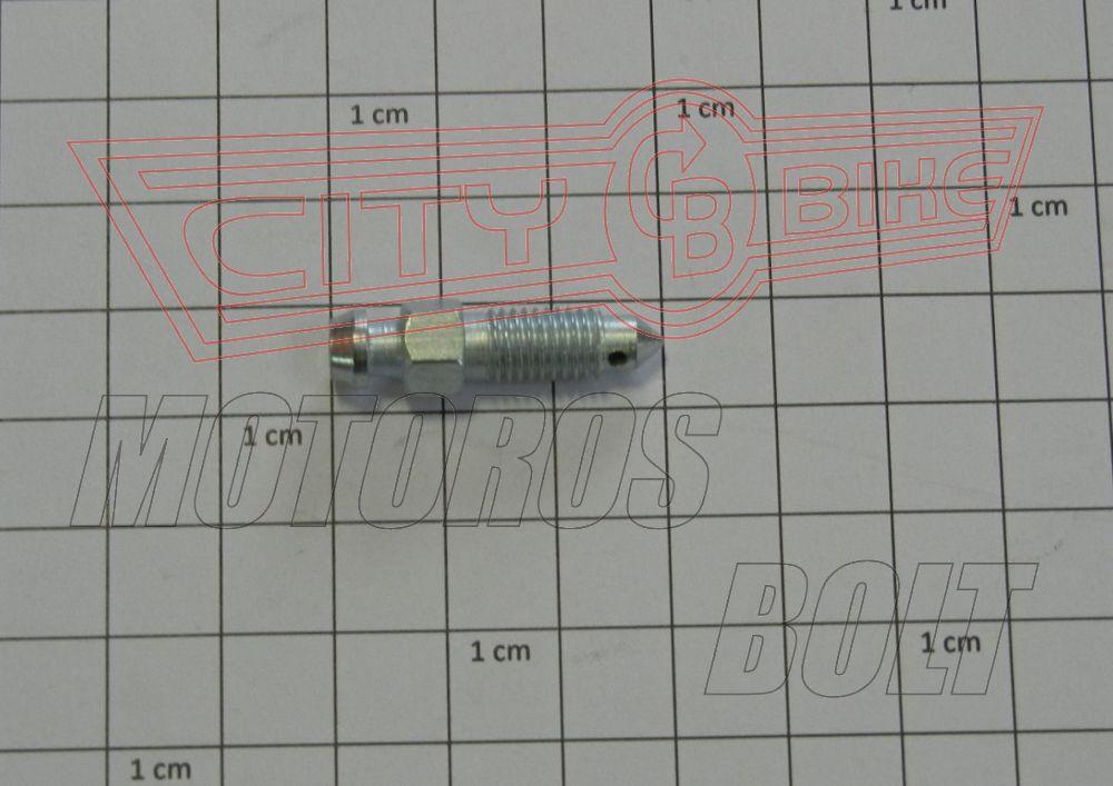 Légtelenítőcsavar  M7x1 kúpos végű ( Heng Tong )